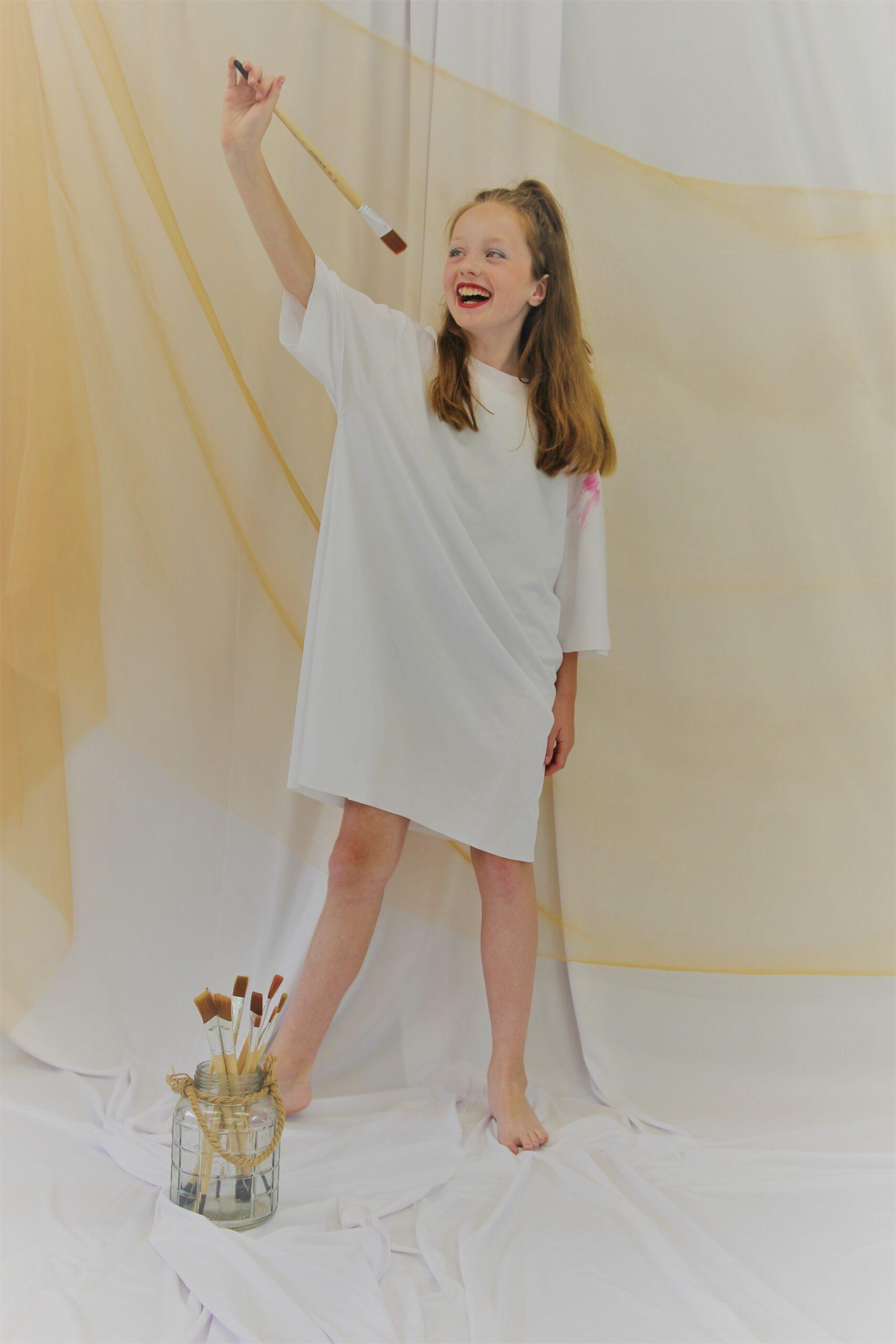 Wit verf shirt kostuum